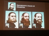 From human to dwarven, to too much. Paul used himself as a model for this experiment.