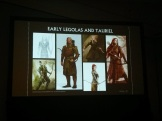 Heavily armoured with leather and metal. The silhouettes are bulky and non-distinct.