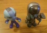 Kidrobot Booth -- Nebula and Ronan from Guardians of the Galaxy bobble heads.