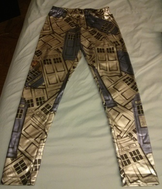 Tardis Leggins! Shiny.