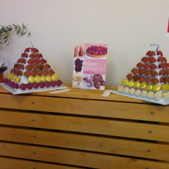 Pyramids of macarons from