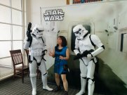 And a party with photo-ops with the two very gentlemanly stormtroopers.